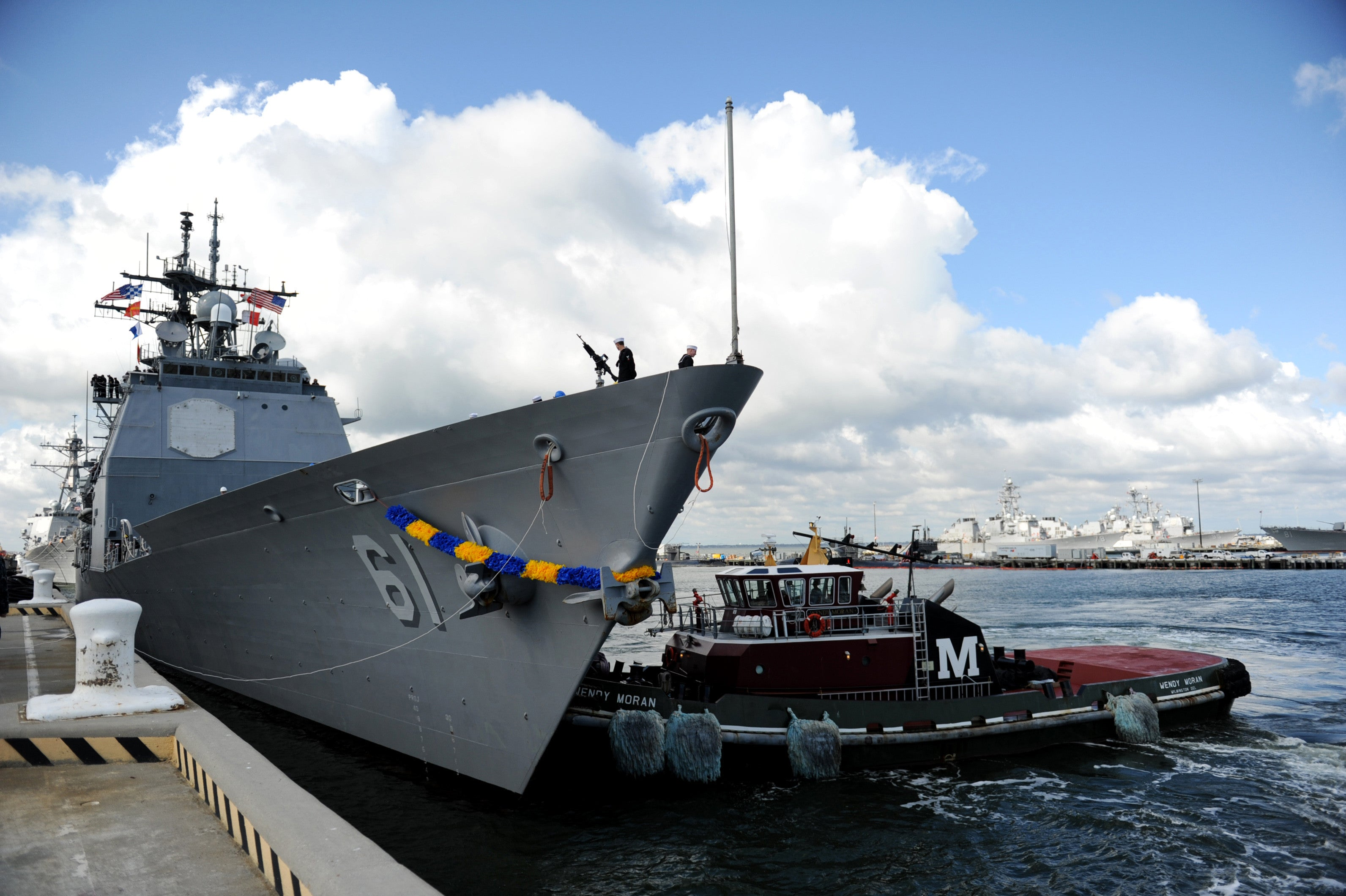 "USS Monterey CG-61at Naval Station Norfolk NORFOLK (Nov. 1, 2011) - 4"" x 6"" Photograph"