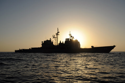 "USS Anzio CG-68 in the Gulf of Aden GULF OF ADEN (Oct. 14, 2009) - 4"" x 6"" Photograph"