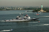 "USS Vella Gulf CG-72 Transits the Hudson River Past Statue of Liberty NEW YORK CITY (May 20, 2009) - 4"" x 6"" Photograph"