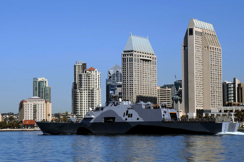 "USS Freedom LCS-1 Departs San Diego Bay  (March 1, 2013) - 4 x 6"" Photo Card"