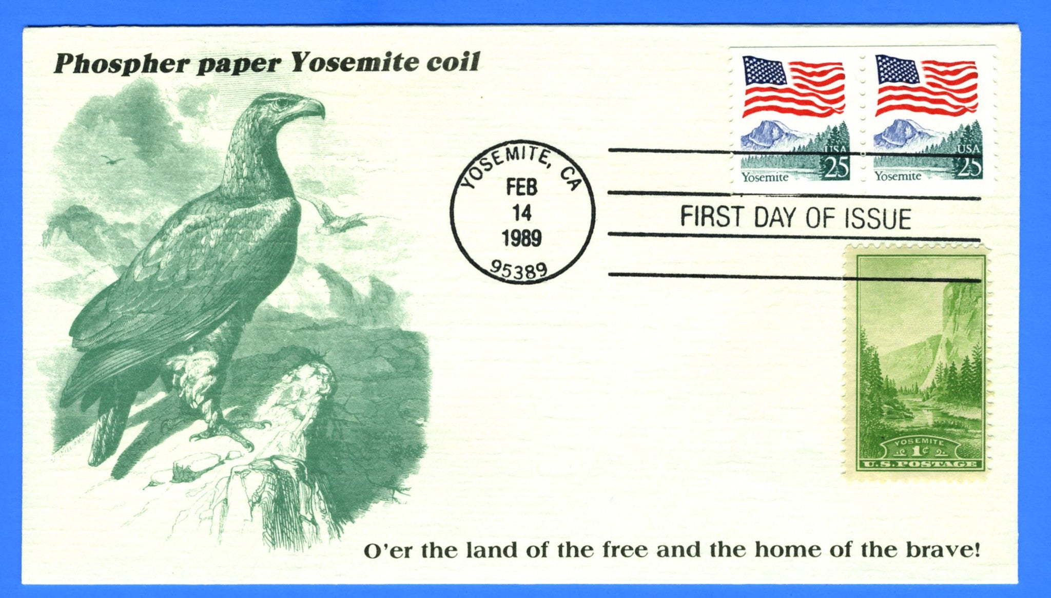 Scott 2280a 25c Flag Over Yosemite Combo First Day Cover by KMC Venture