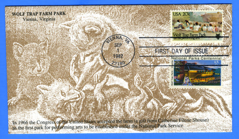 Scott 2018 20c Wolftrap Farm Park Combo First Day Cover by KMC Venture