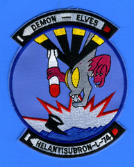 "Helicopter Anti-Submarine Squadron (Light) 74 (HELANTISUBRONLIGHT 74) Patch 4"" Wide x  5"" High"