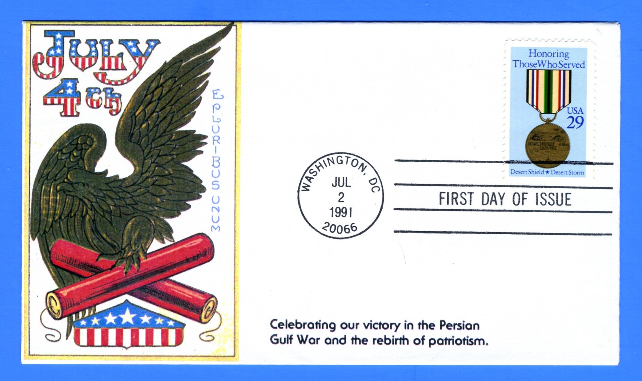 Scott 2551  29c Honoring Those Who Served First Day Cover by KMC Venture