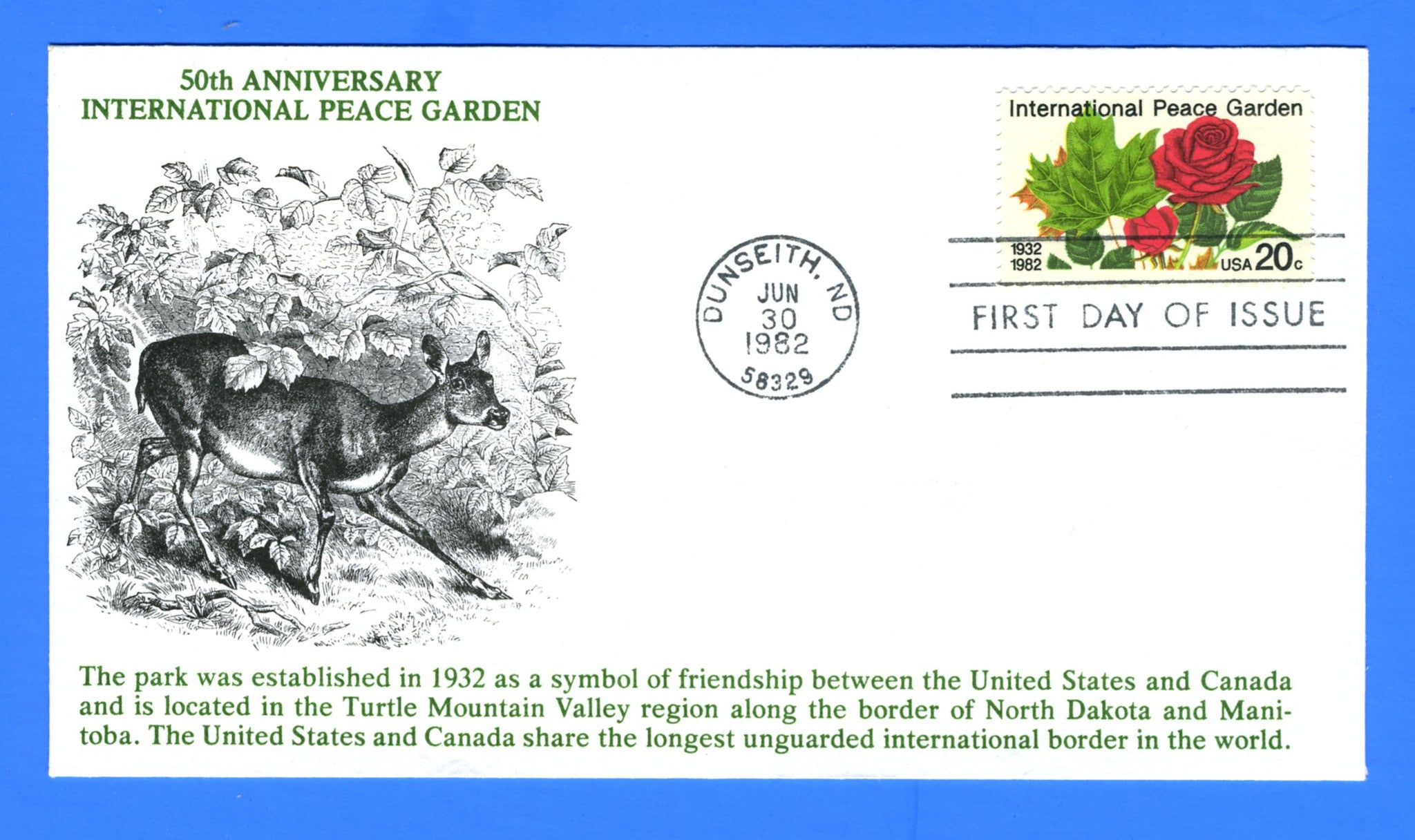 Scott 2014 20c International Peace Garden First Day Cover by KMC Venture