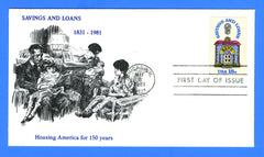 Scott 1320 18c Savings and Loans First Day Cover by KMC Venture