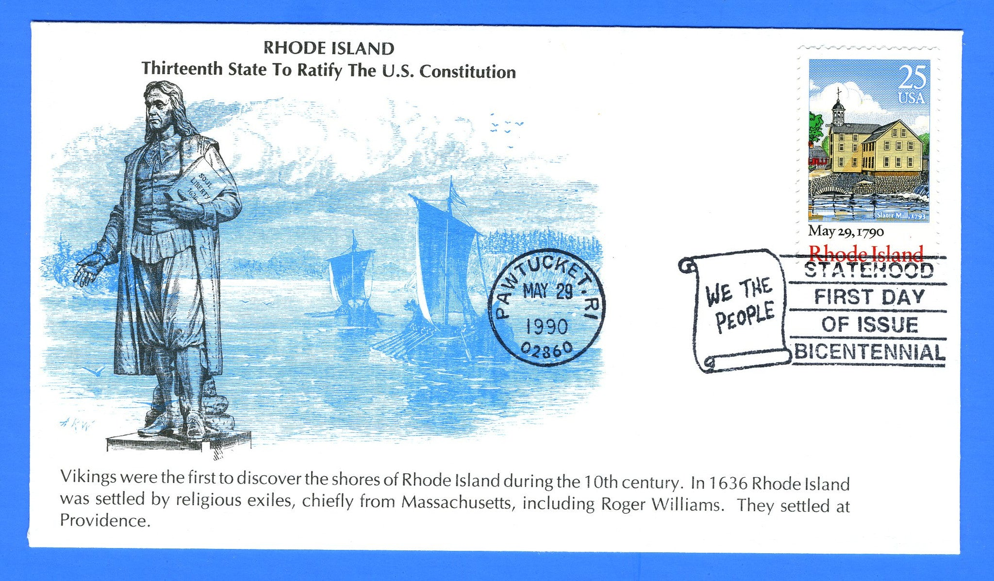 Scott 2341 25c Rhode Island Constitution Ratified First Day Cover by KMC Venture