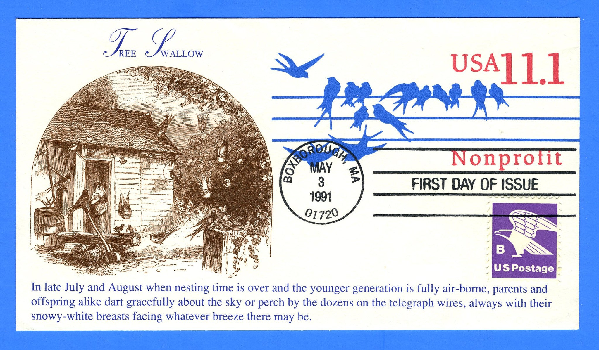Scott U620 11.1c Birds on the Wire Stamped Envelope First Day Cover ...