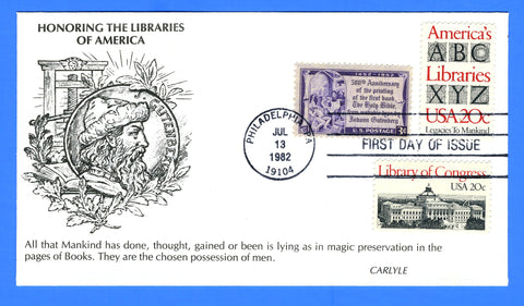 Scott 2014 20c American Libraries Combo First Day Cover by KMC Venture