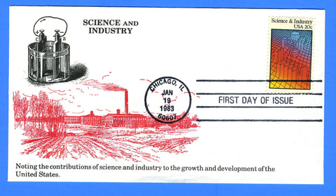 Scott 2031 20c Science & Industry First Day Cover by KMC Venture