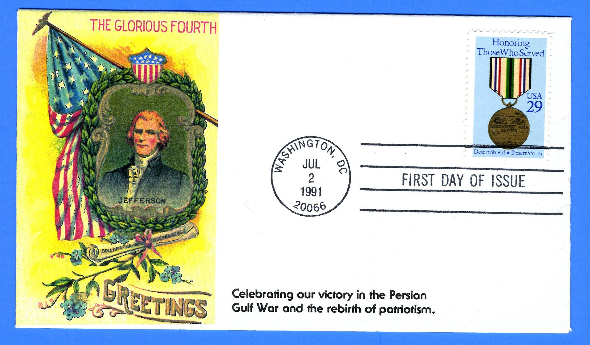 Scott 2551 29c Honoring Desert Storm - Desert Shield FDC by KMC Venture