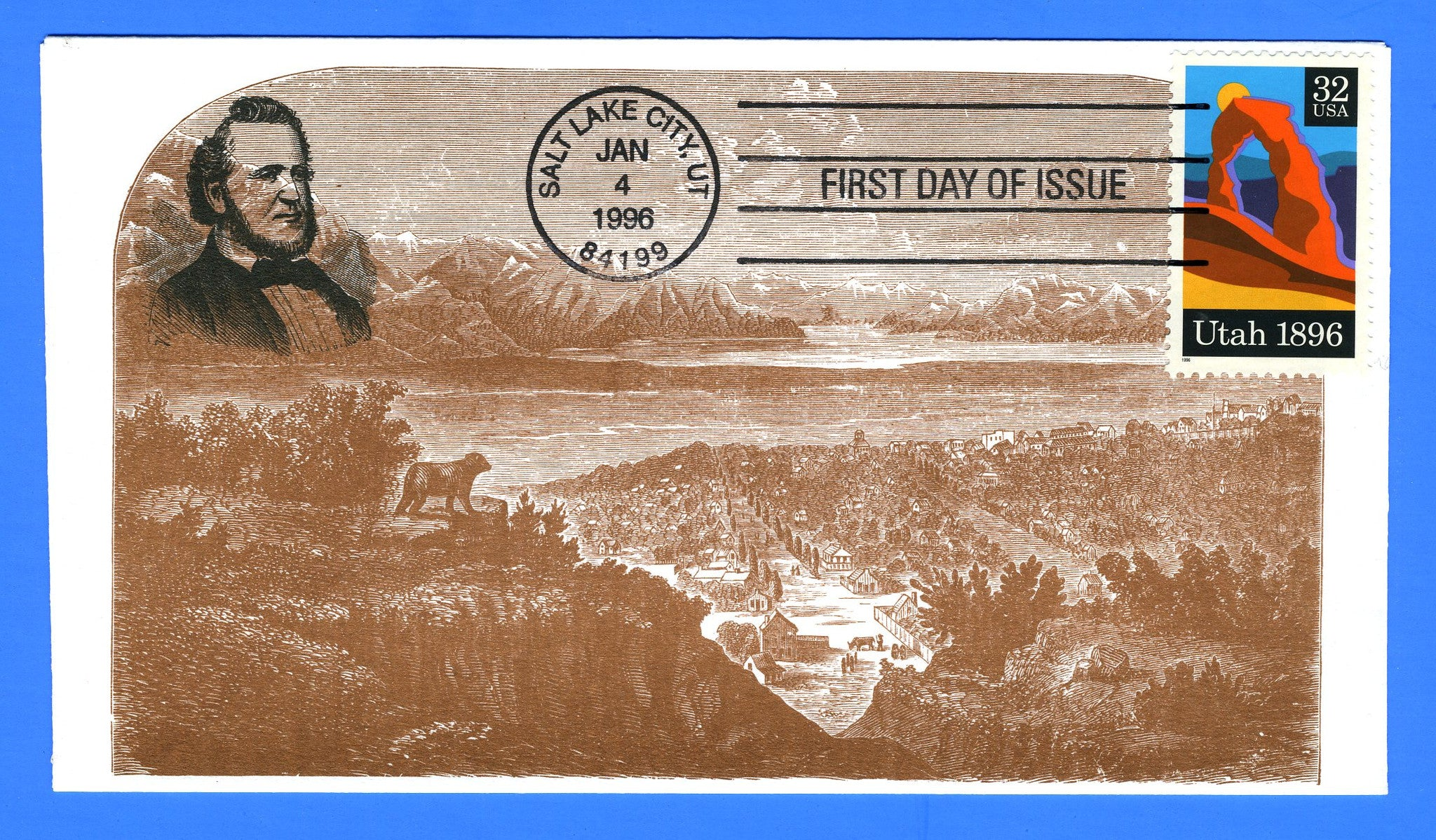 Scott 3024 Utah Centennial First Day Cover by S & T Cachets