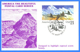 Scott UX131 The Mountains & Canada Geese First Day of Issue Postal Card by KMC Venture