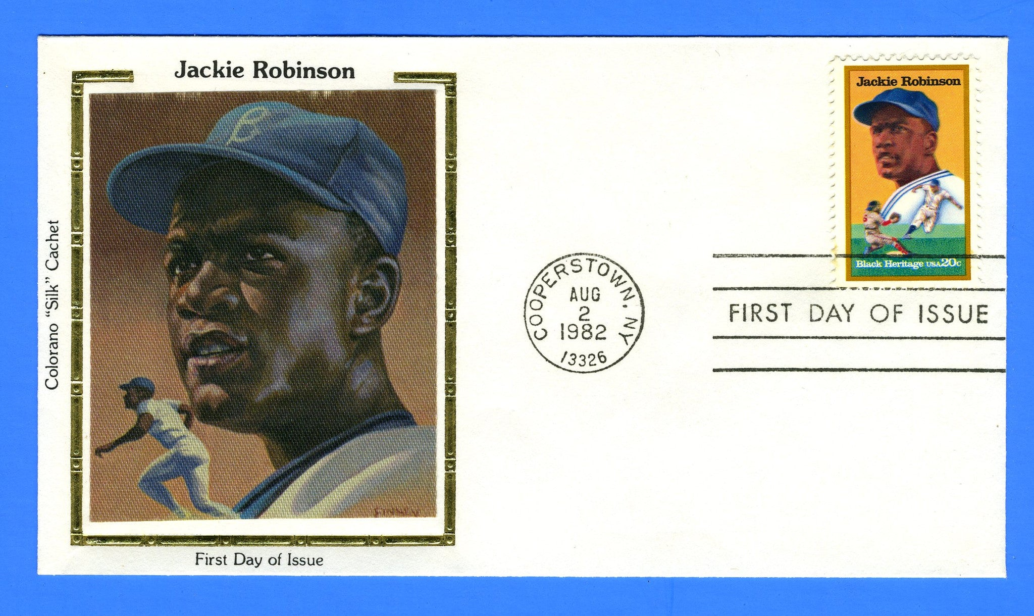 Scott 2016 Jackie Robinson First Day Cover by Colorano