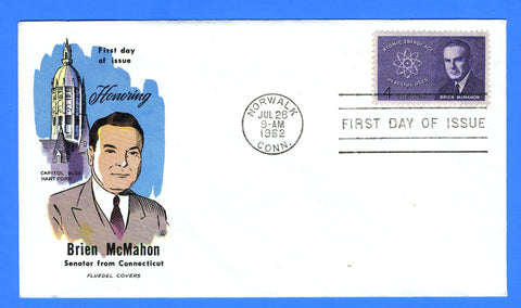 Scott 1200 4c Brien McMahon Atomic Energy Act FDC by Fluegel Covers