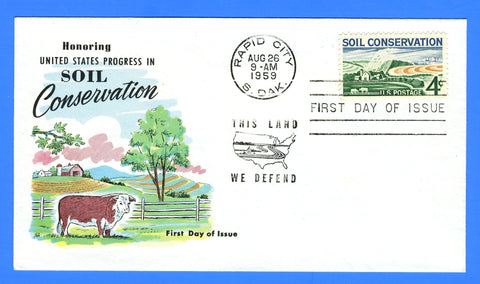 Scott 1133 4c Soil Conservation First Day Cover by Fluegel Covers