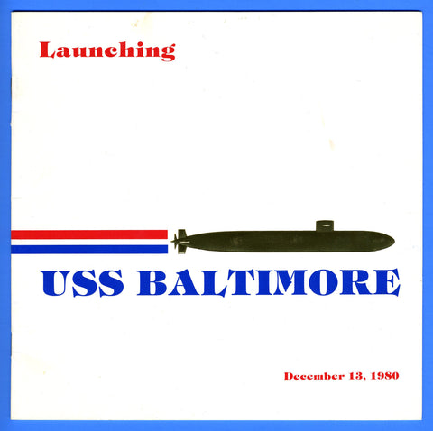 USS Baltimore SSN-704 Launching Program December 13, 1980