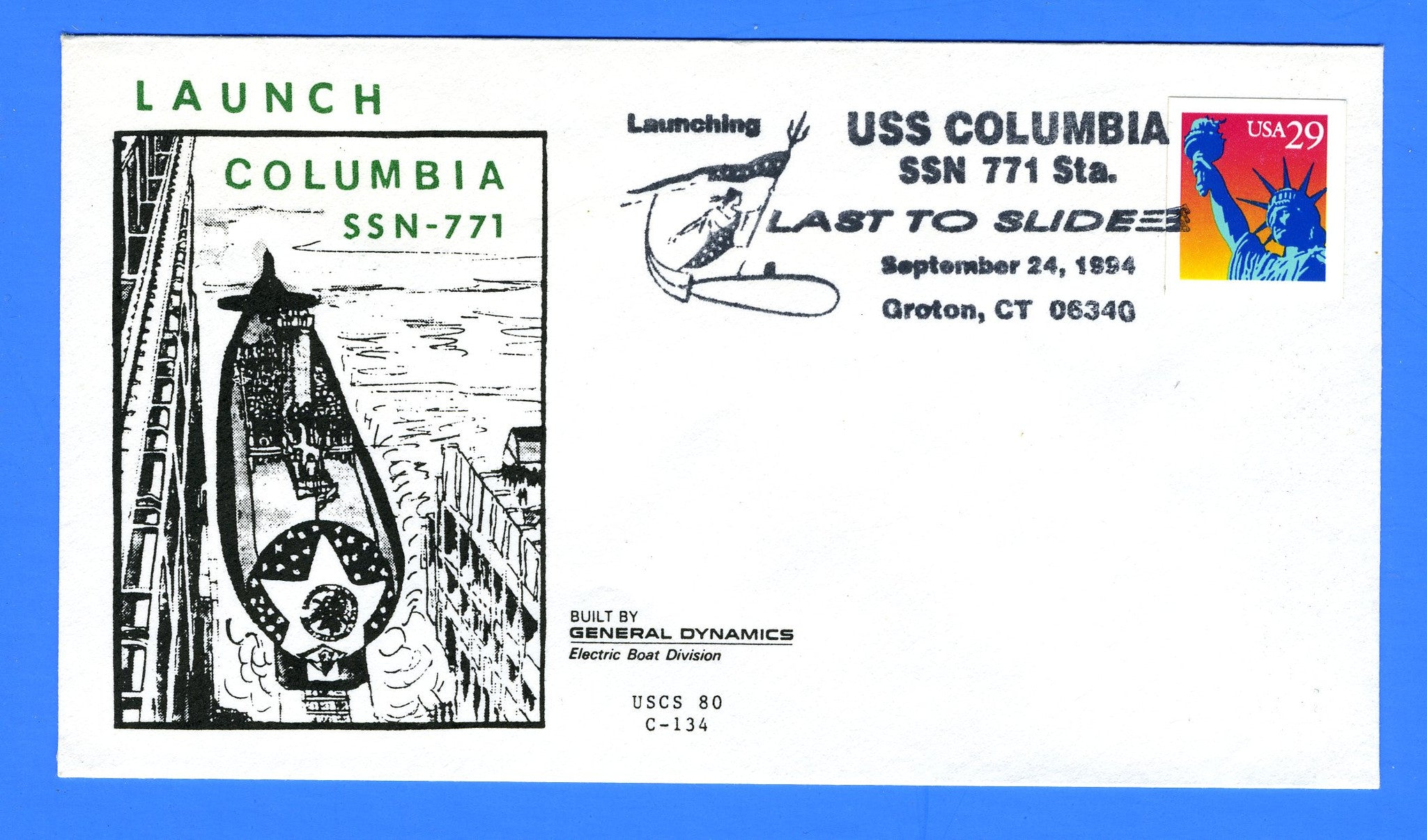 USS Columbia SSN-771 Launched September 24, 1994