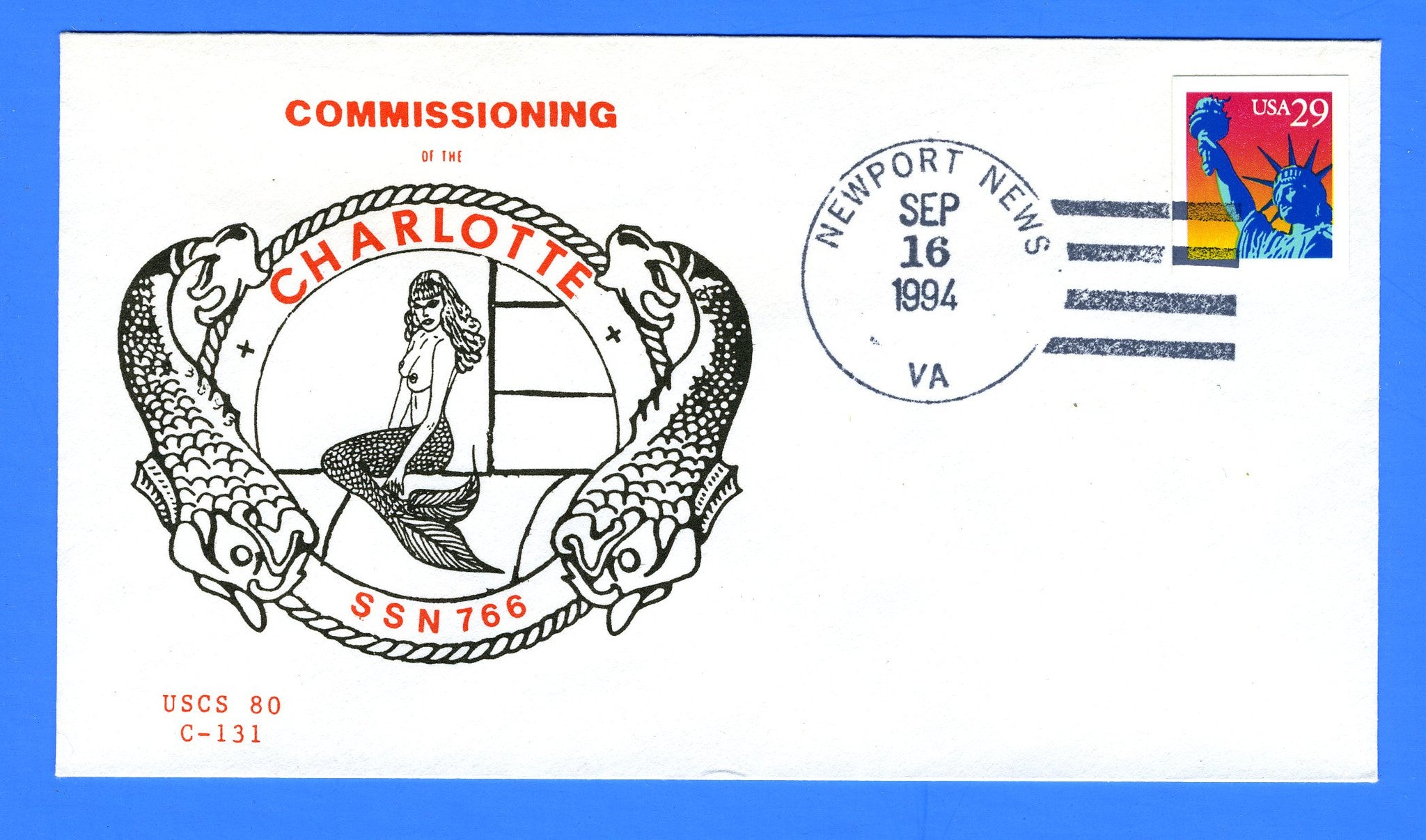 USS Charlotte SSN-766 Commissioning September 16, 1994