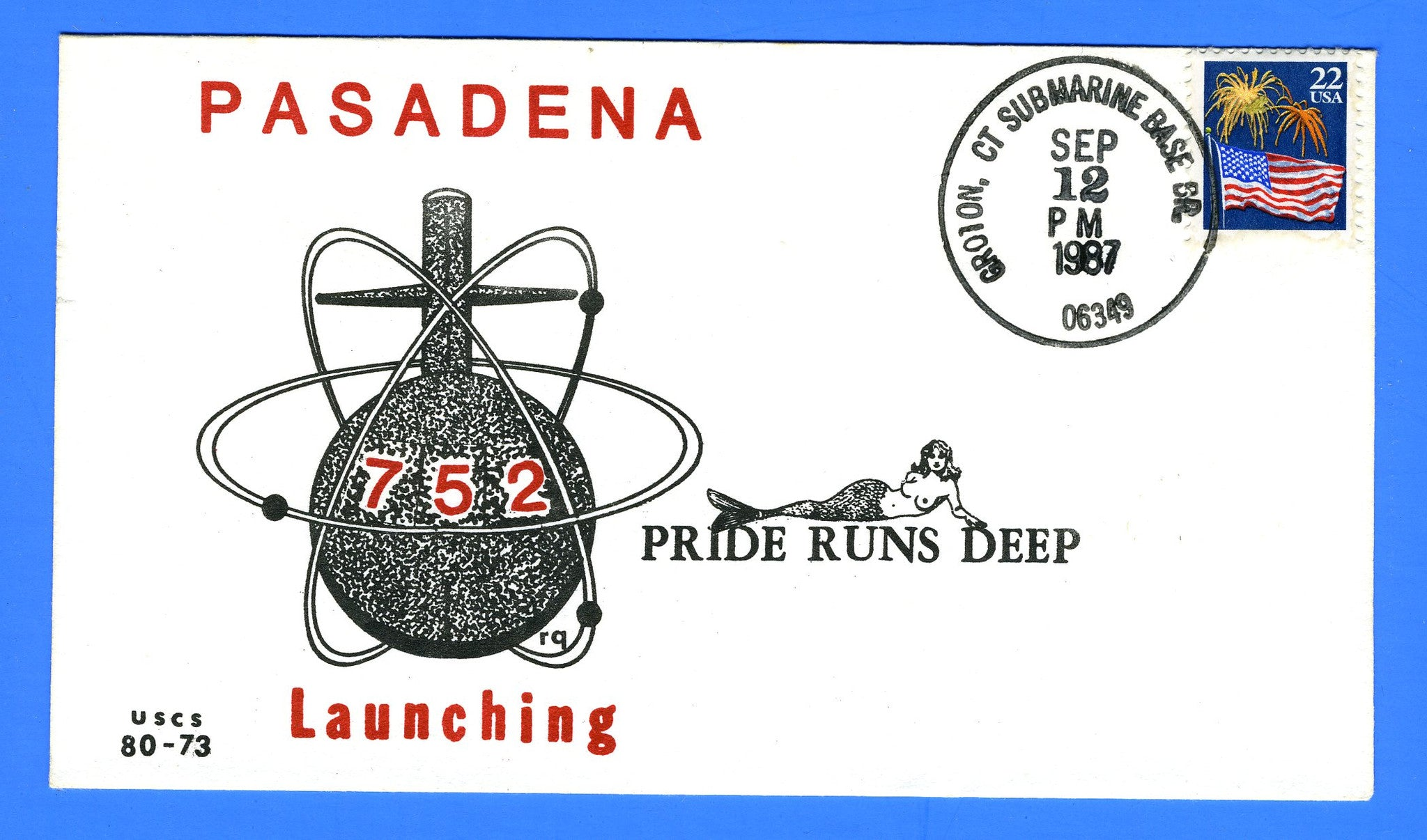 USS Pasadena SSN-752 Launching September 12, 1987