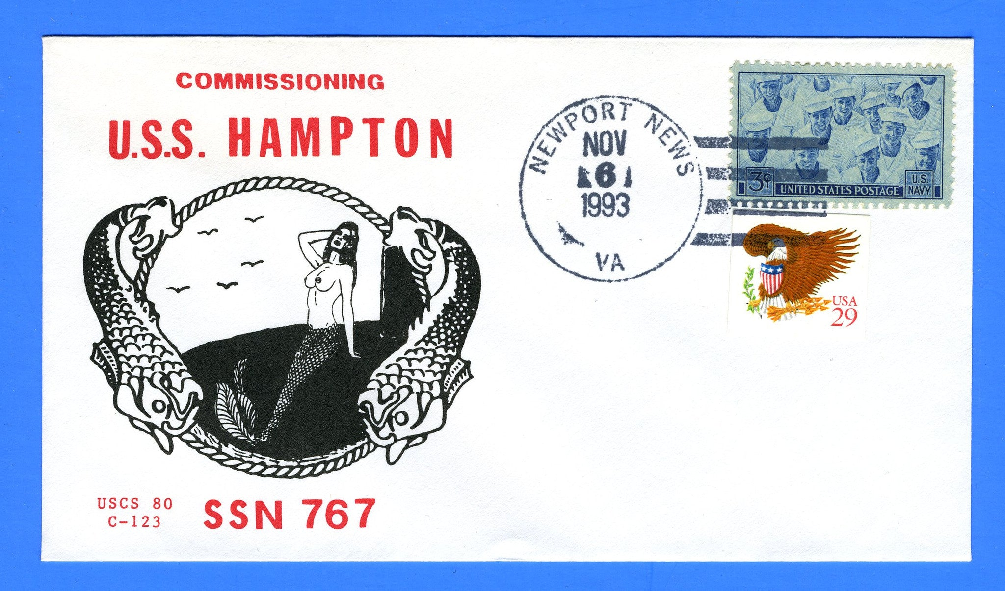 USS Hampton SSN-767 Commissioning November 6, 1993