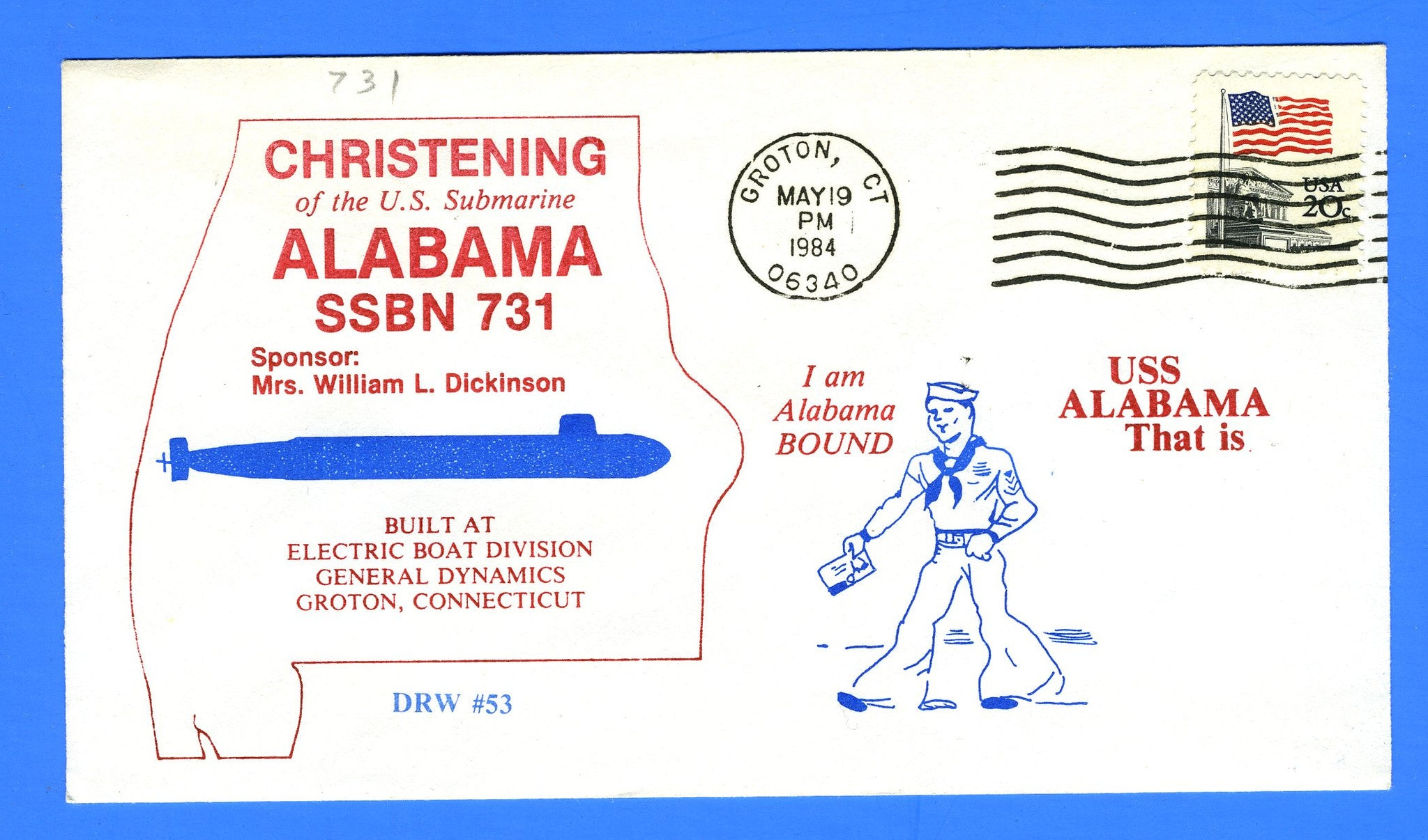 USS Alabama SSBN-731 Christening May 19, 1984 - DRW 53