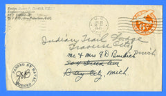 Sailor's Censored Mail LCT Flotilla 6 July 25, 1945