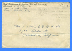 "Marine's ""Free"" Mail Aviation Squadron #11 Marine Barracks Parris Island, SC September 23, 1944"