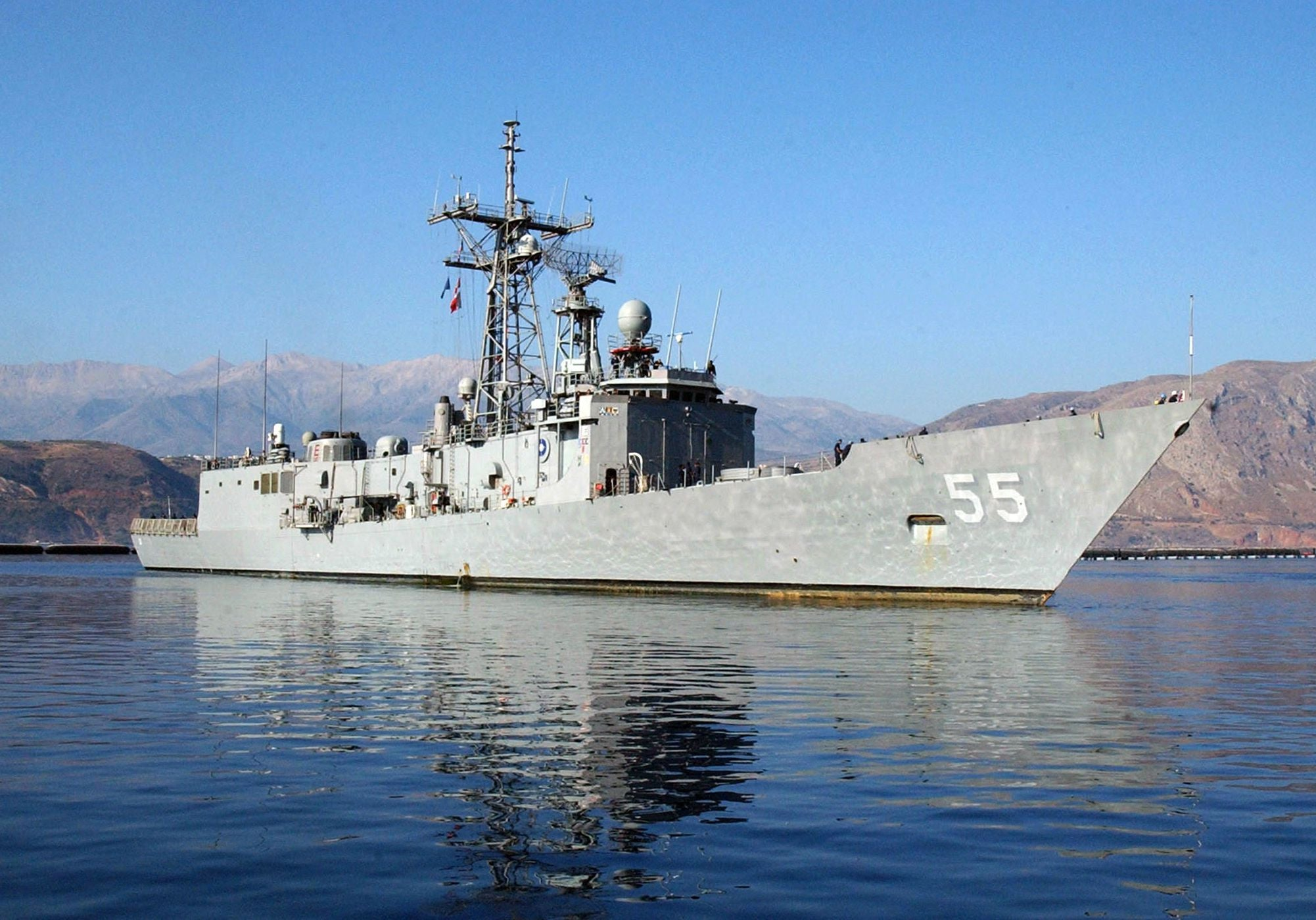 "USS Elrod FFG-55 Souda Bay, Crete, Greece August 4, 2006 - 5 x 7"" Photo Card"