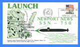 USS Newport News SSN-750 Launched March 15, 1986 - Cachet by USS Nathan Hale Chapter No. 68, USCS