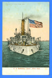 Battleship Iowa BB-4 - Unused Postcard by The American News Company