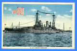 Battleship USS South Carolina BB-26 - Unused Postcard by Enrique Muller