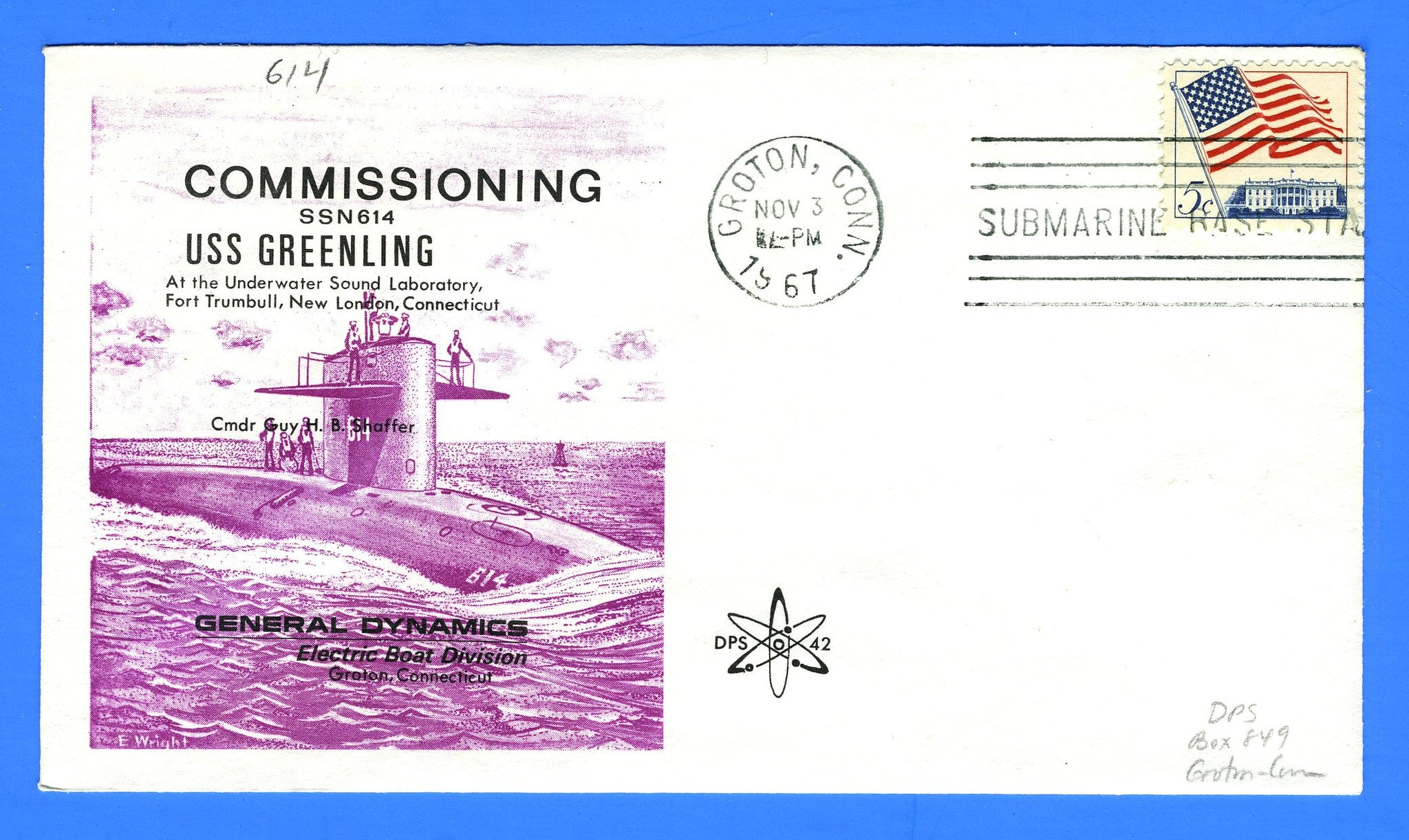 USS Greenling SSN-614 Commissioning November 3, 1967