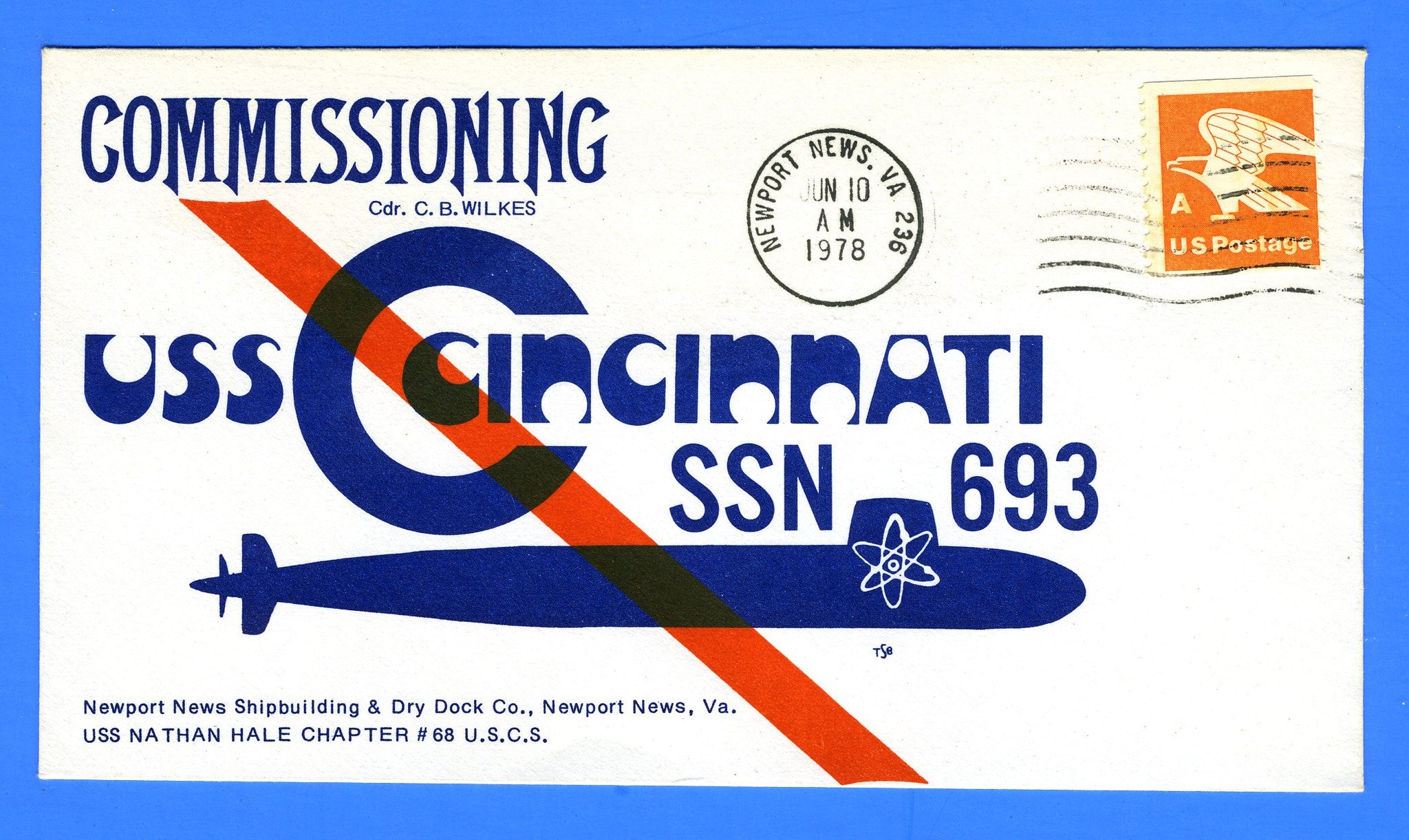 USS Cincinnati SSN-693 Commissioning June 10, 1978