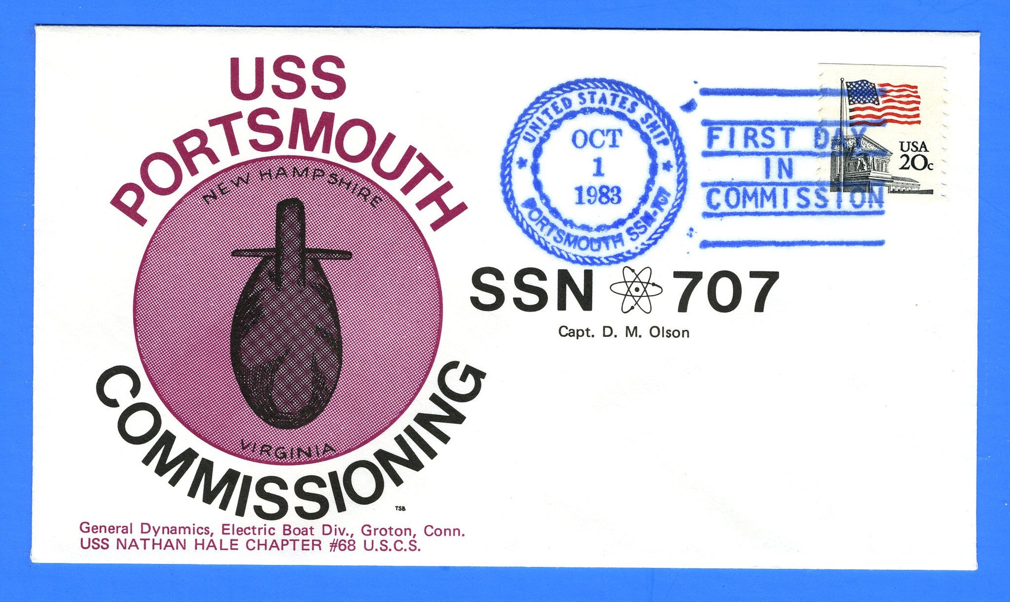 USS Portsmouth SSN-707 Commissioned October 1, 1983