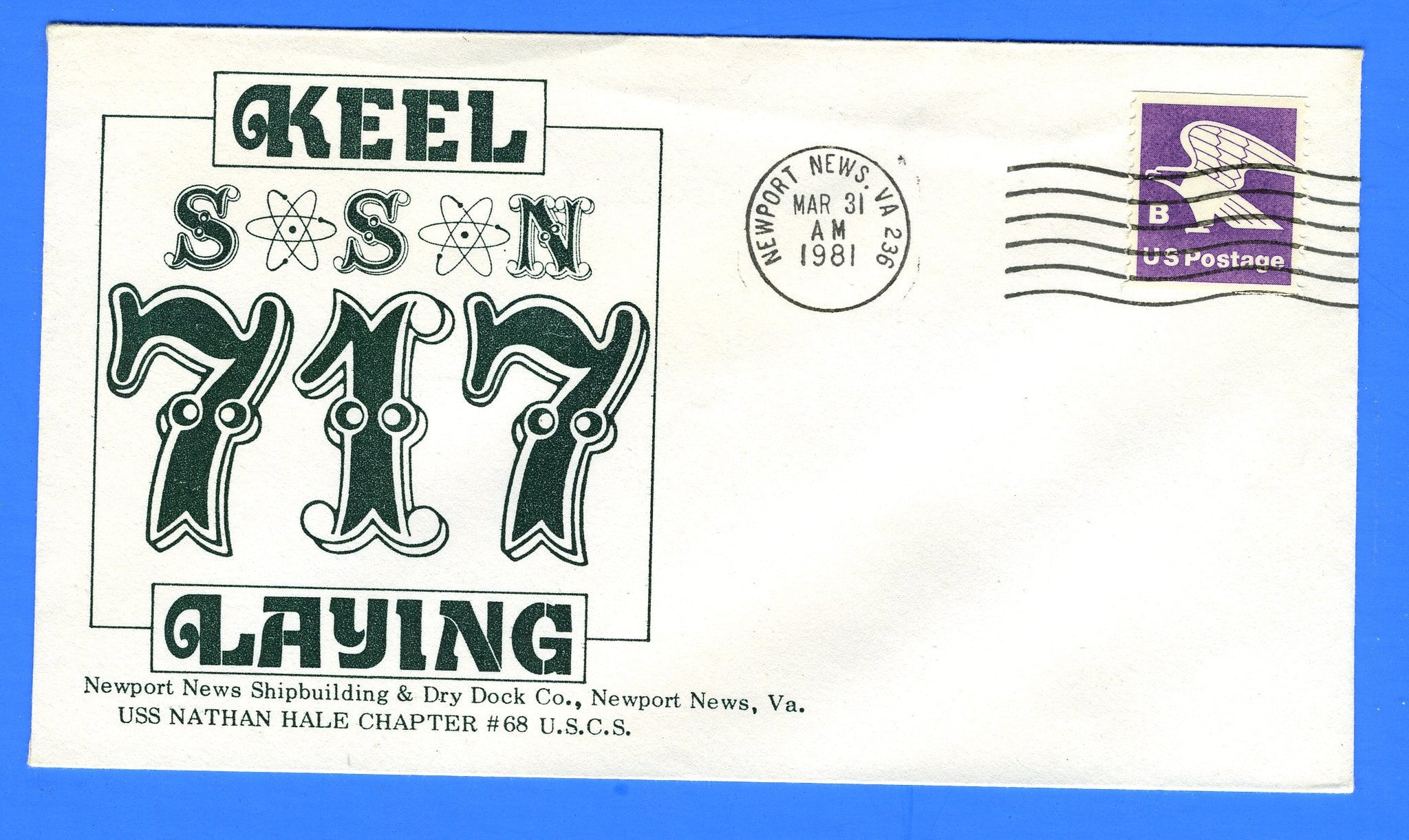 USS Olympia SSN-717 Keel Laying March 31, 1981