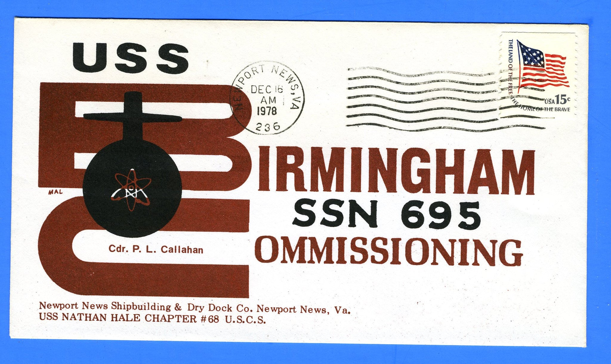 USS Birmingham SSN-695 Commissioning December 16, 1978