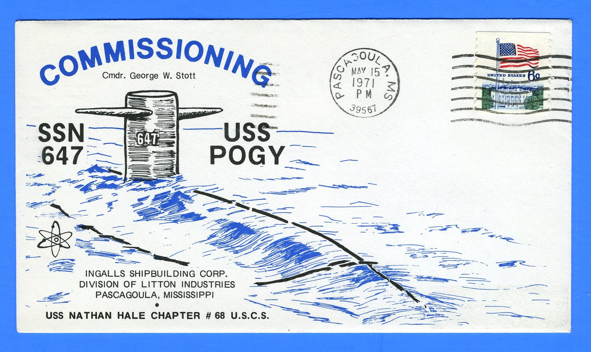 USS Pogy SSN-647 Commissioning May 15, 1971