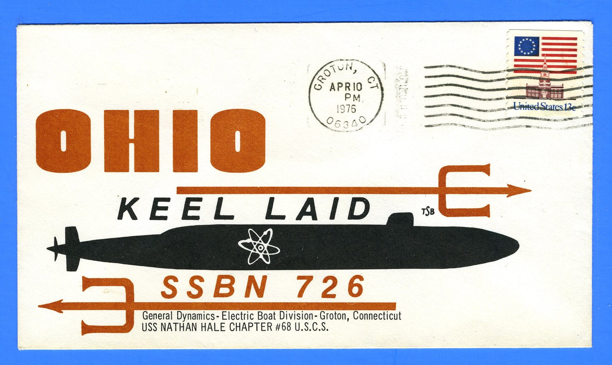 USS Ohio SSBN-726 Keel Laid April 10, 1976