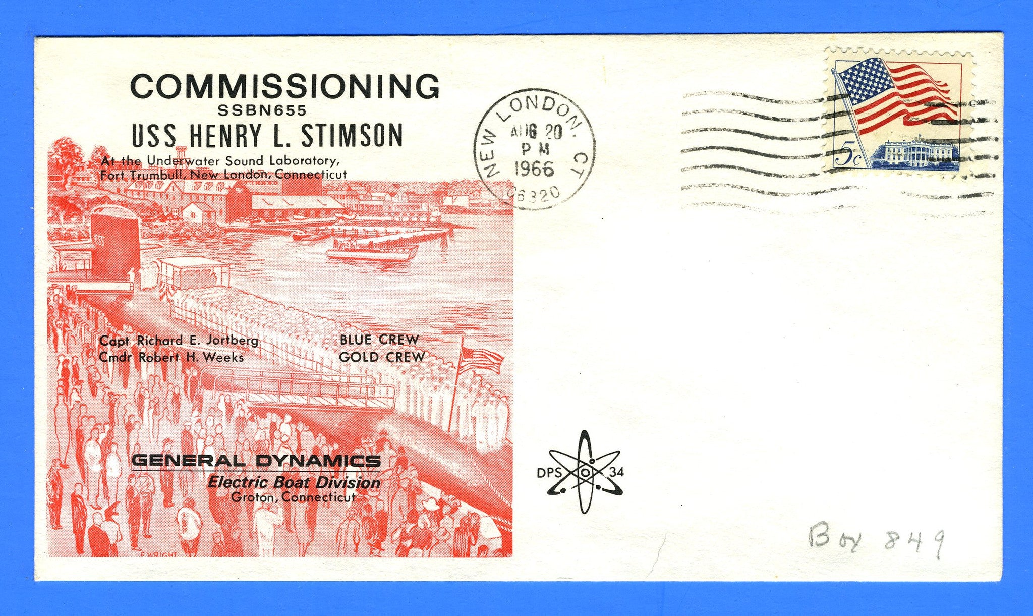 USS Henry L. Stimson SSBN-655 Commissioned August 20, 1966
