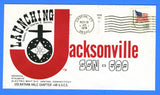 USS Jacksonville SSN-699 Launching November 18, 1978 - Cachet by USS Nathan Hale Chapter No. 68, USCS