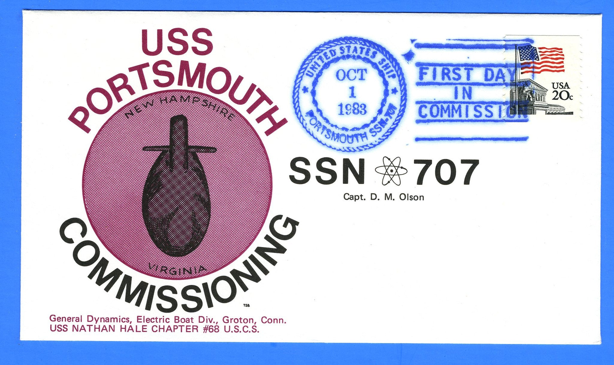 USS Portsmouth SSN-707 Commissioning October 1, 1983