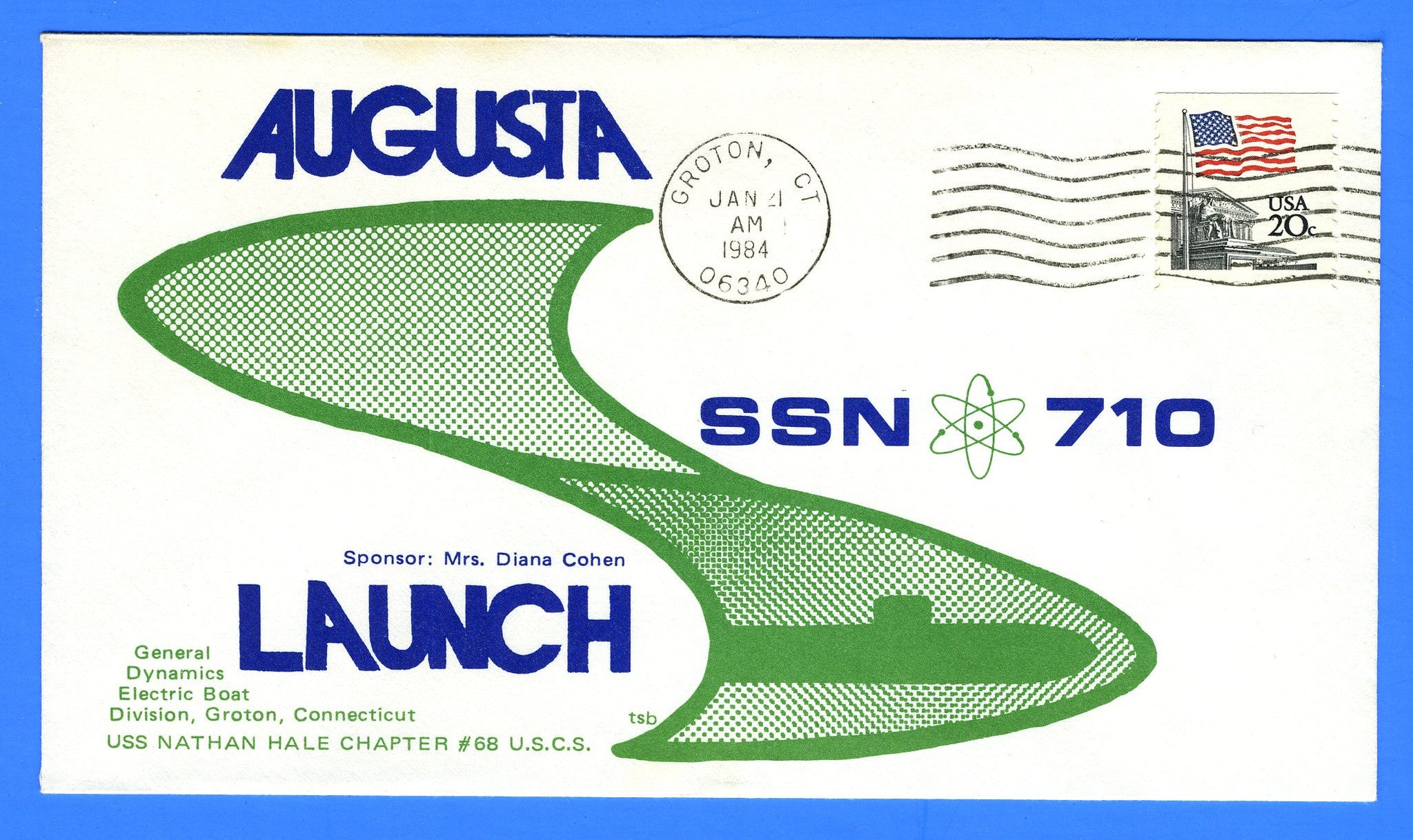 USS Augusta SSN-710 Launched January 21, 1984