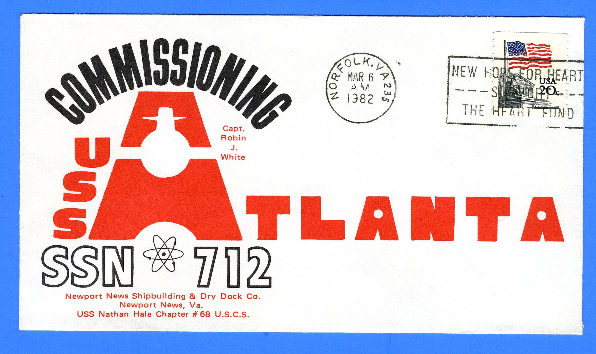 USS Atlanta SSN-712 Commissioning March 6, 1982