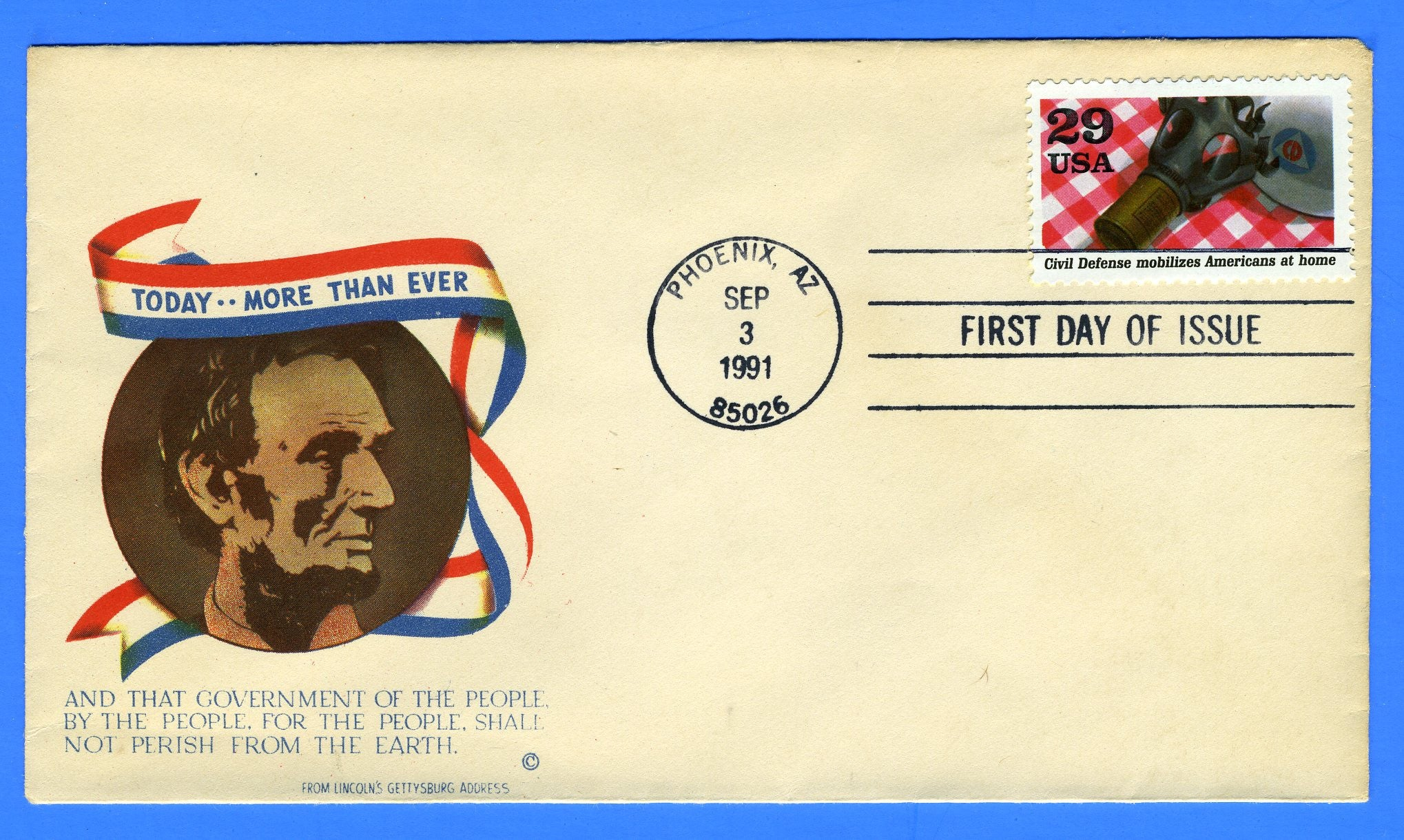 Scott 2559g Civil Defense Mobilizes First Day Cover on Minkus Patriotic
