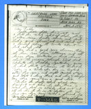 Sailor's Censored V Mail Patrol Frigate USS Bangor PF-16 May 9, 1945