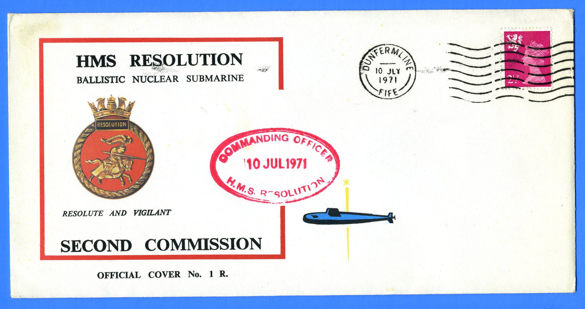 HMS Resolution Second Commission July 10, 1971