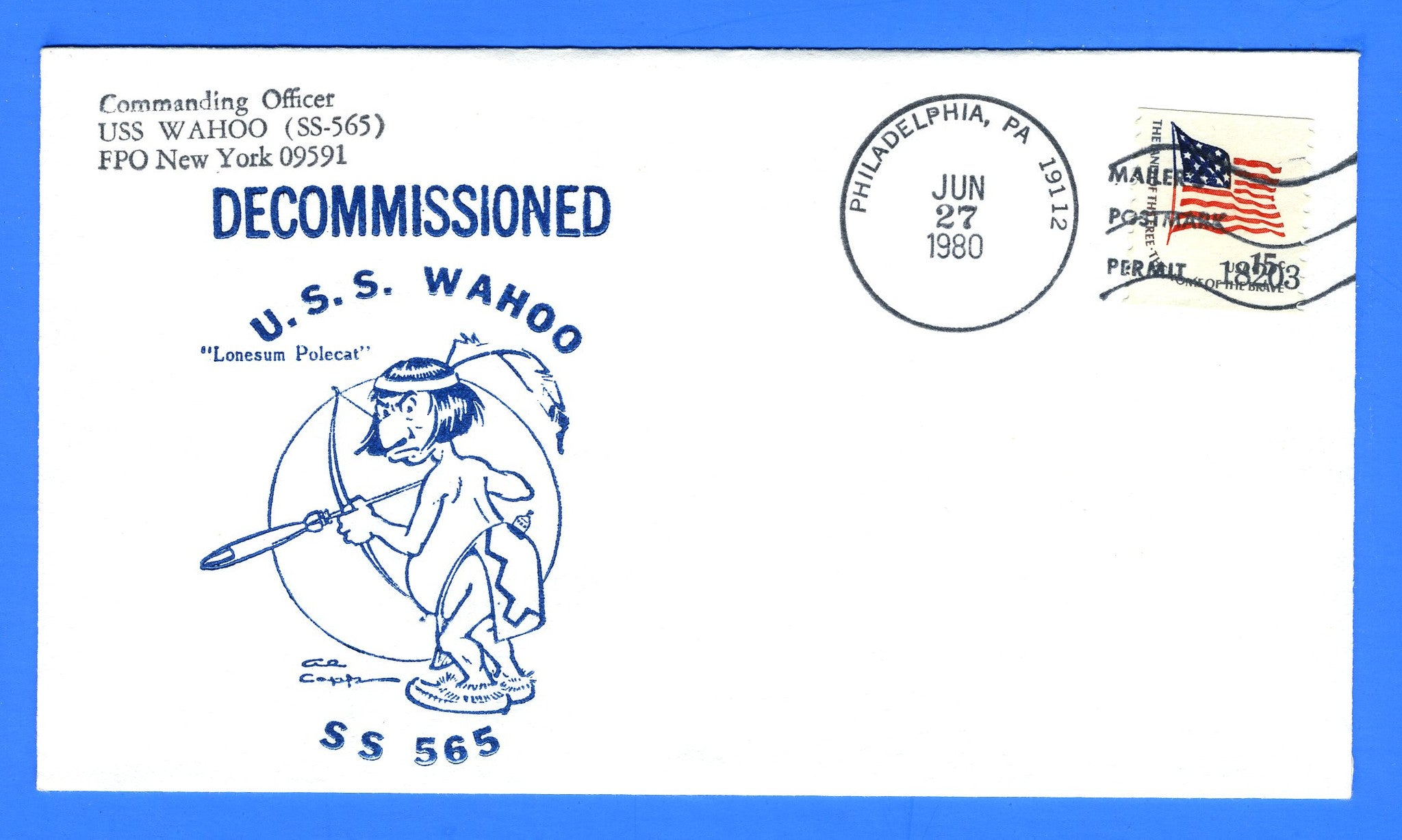 USS Wahoo SS-565 Decommissioned June 27, 1980