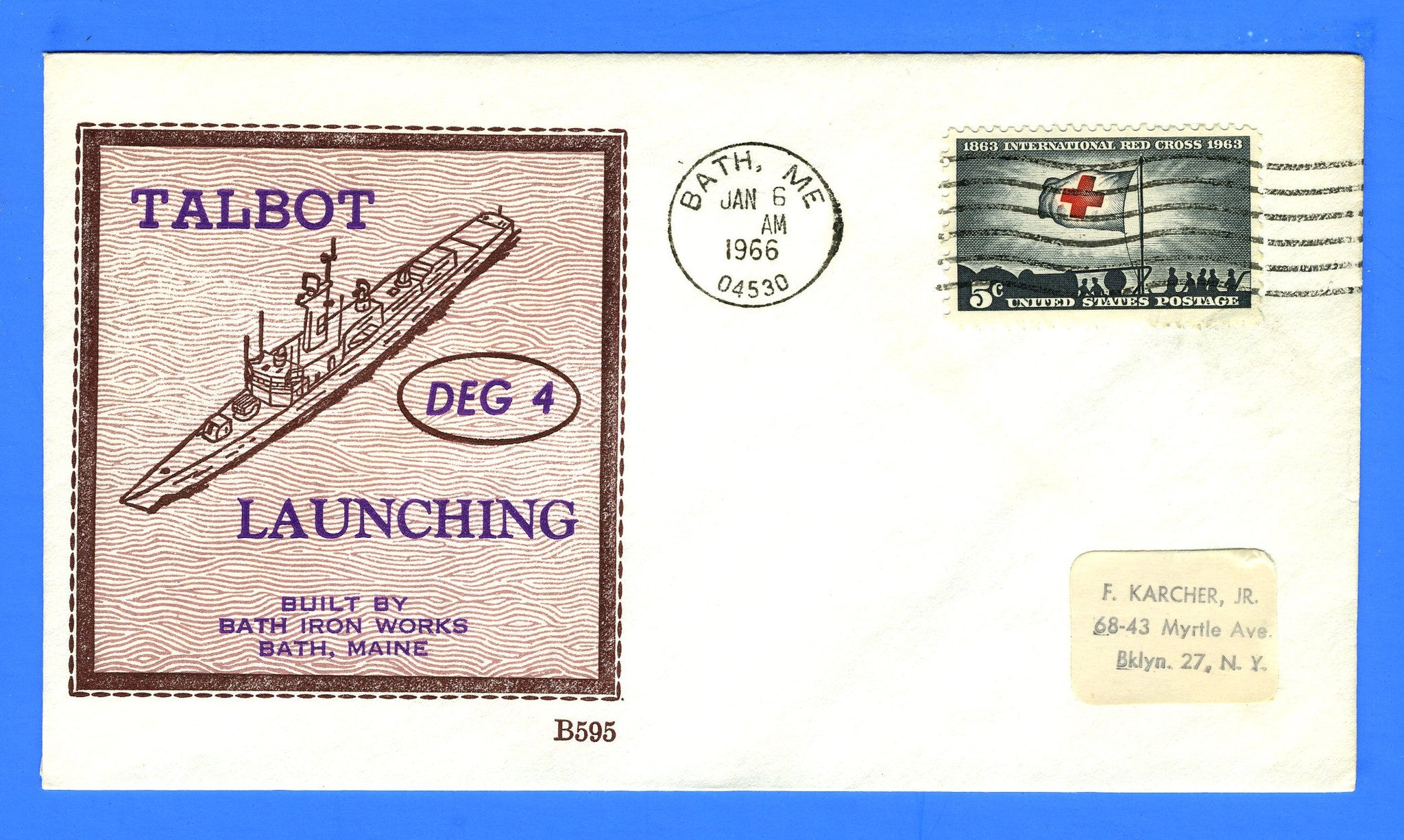 USS Talbot DEG-4 Launched January 6, 1966 - Beck B595