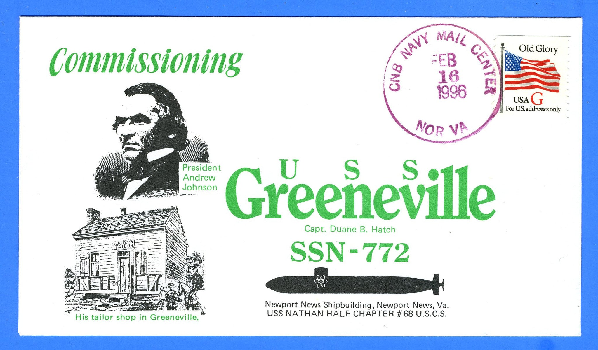 USS Greeneville SSN-772 Commissioned February 16, 1996
